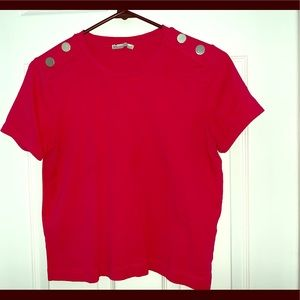 Zara Fuchsia Crop-top with gold buttons